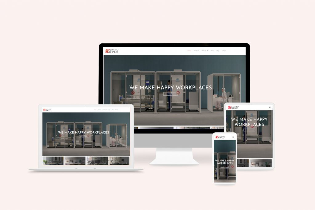 dubai web design company portfolio multi device view bafco