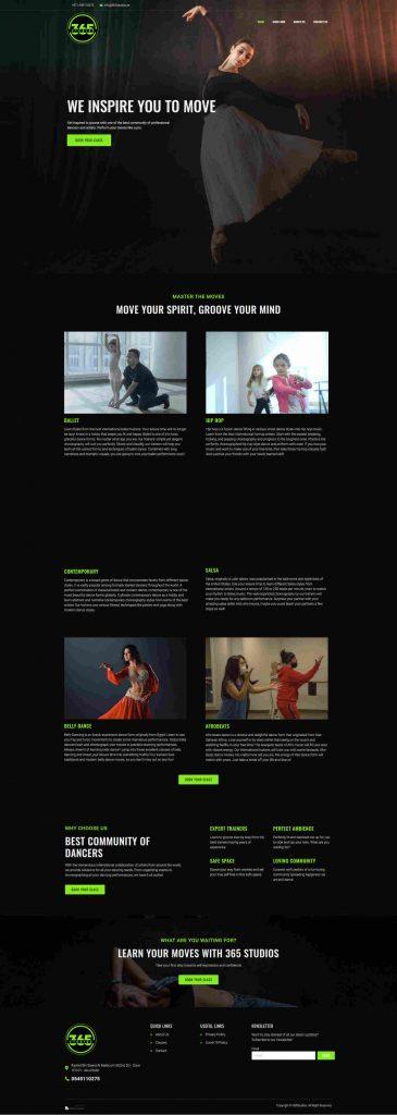 365 Studios Website Screen Shot
